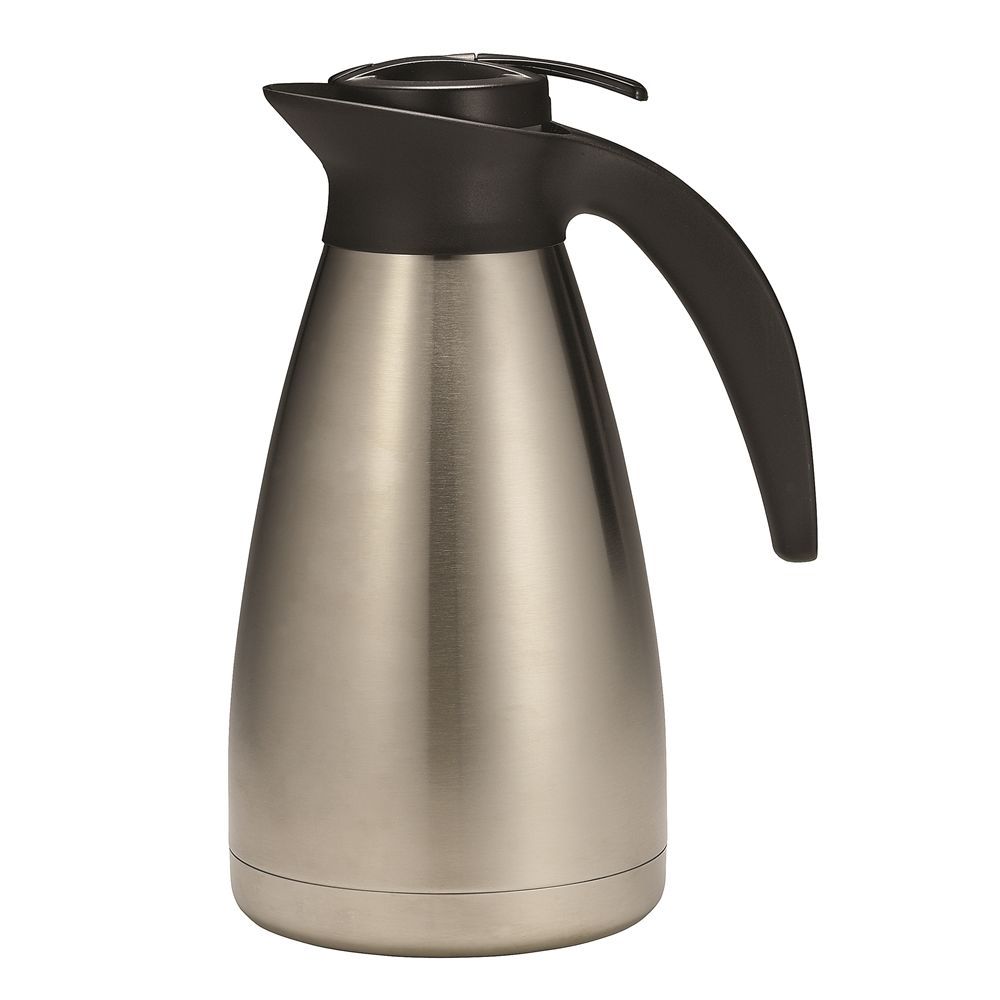 Coffee Decanter 34 oz (1.0 lt), Stainless Steel/Black