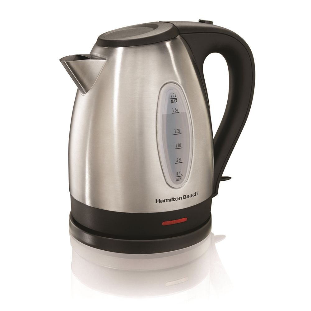 Hamilton Beach® 1.7 Liter Electric Kettle, Stainless Steel