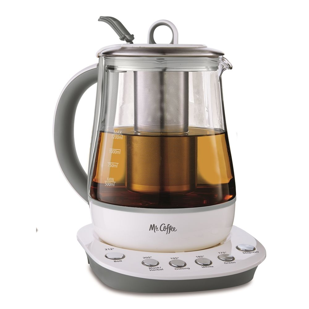 Mr. Coffee® Hot Tea Maker, Glass w/ White Base