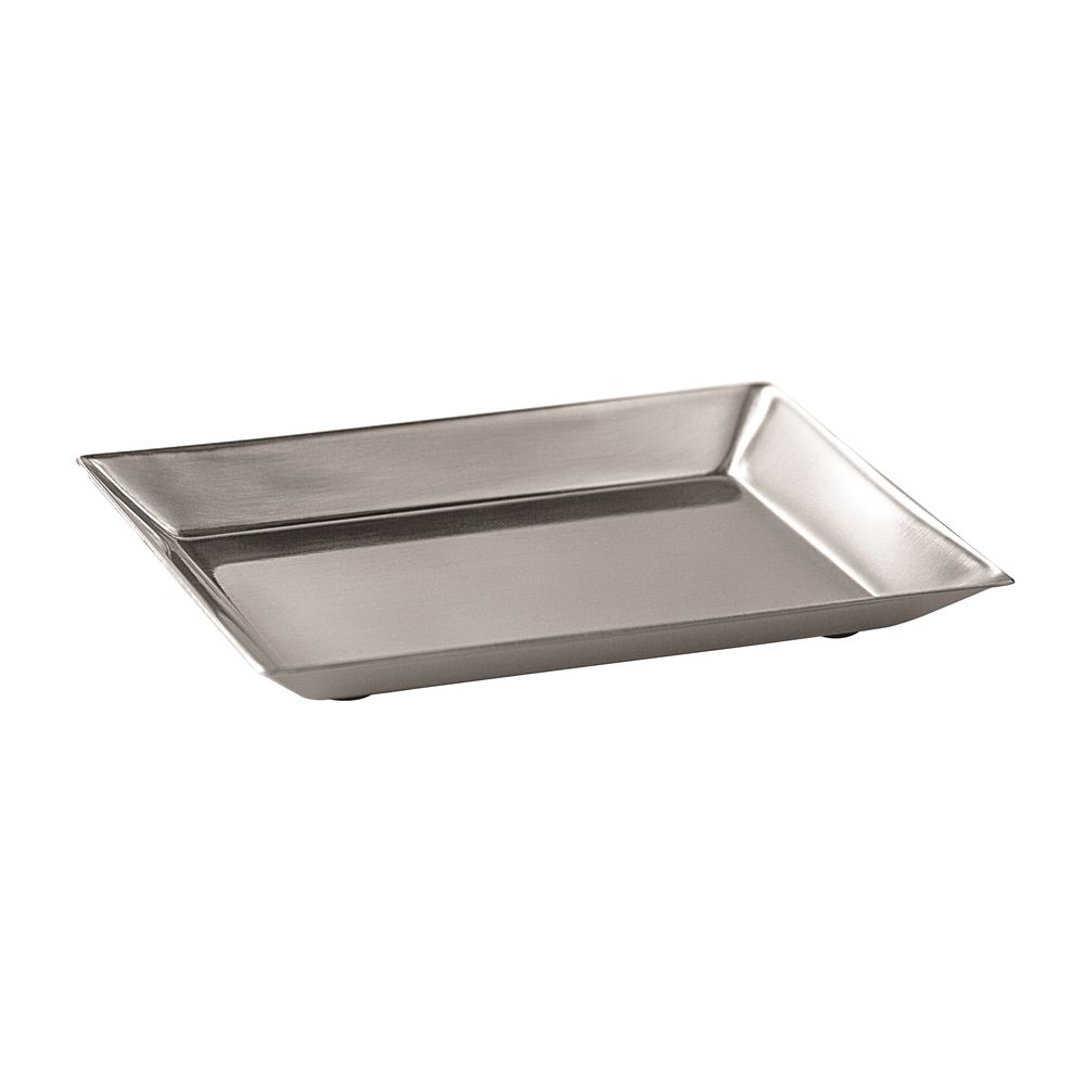 Grand Bath Collection Soap Dish, Brushed Stainless Steel