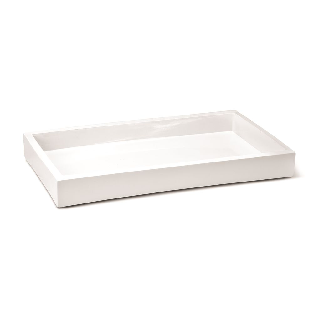 Delta Collection Amenity Tray, White