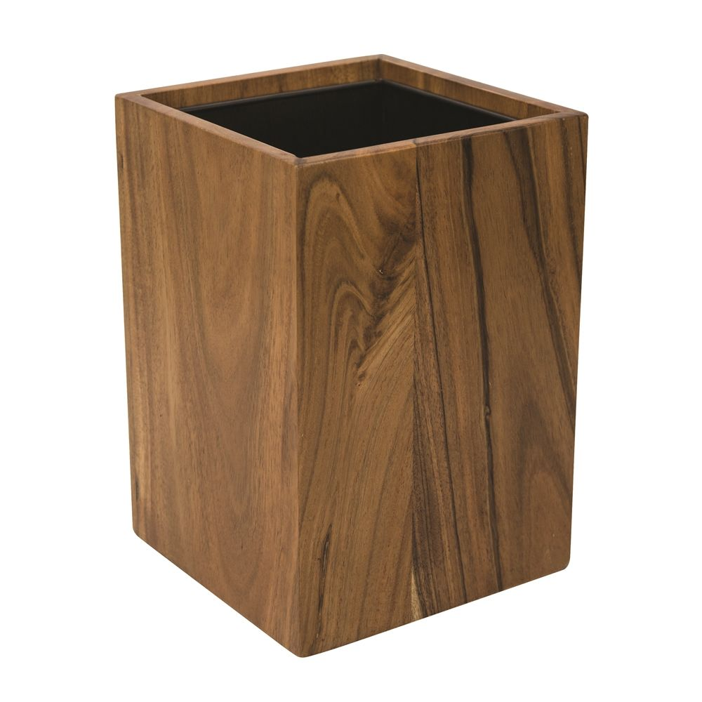 Ahala Wood Collection, 8.5 Quart Wastebasket with Liner, Natural