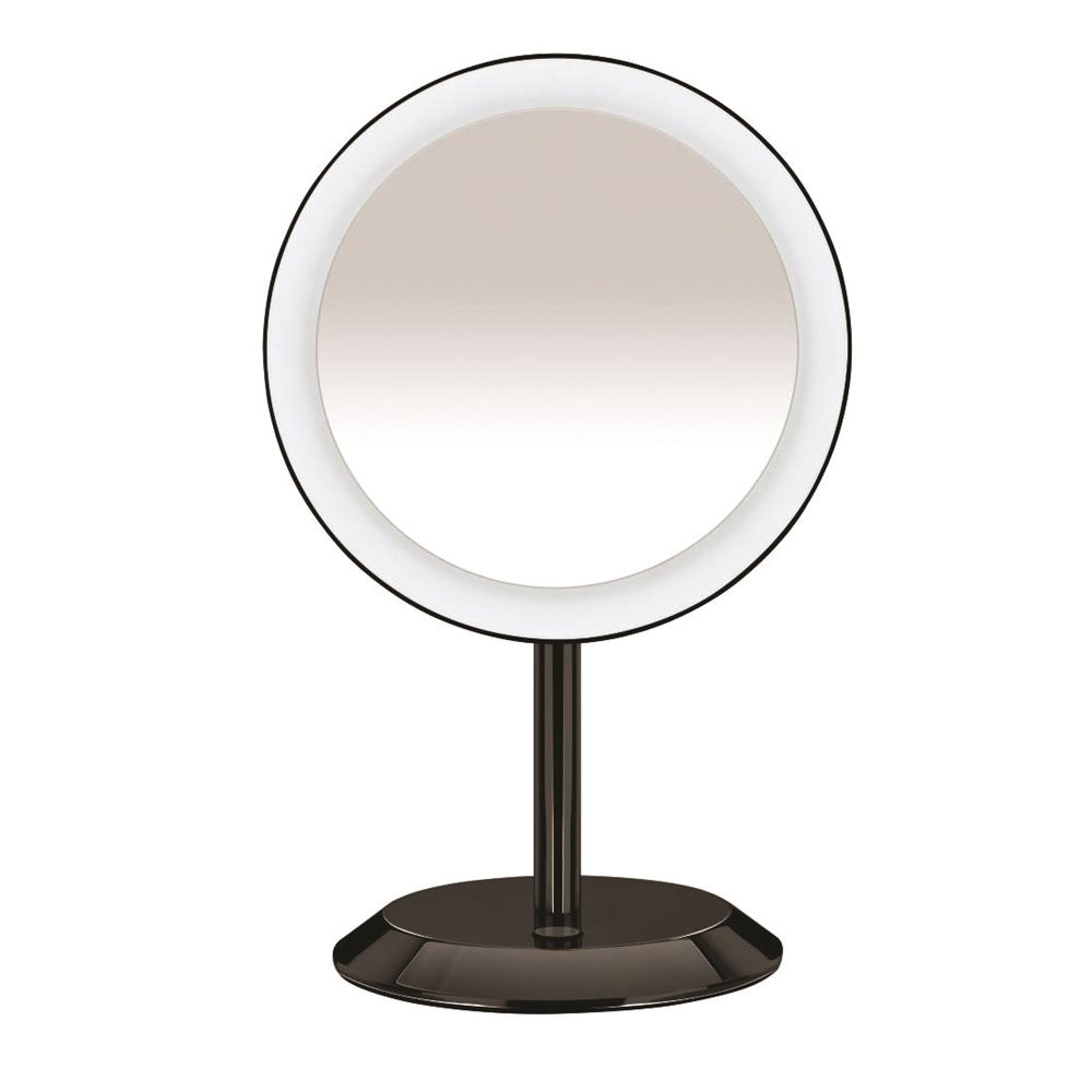 Conair® LED Lighted Vanity Mirror, 5x Magnification, Black Chrome Finish