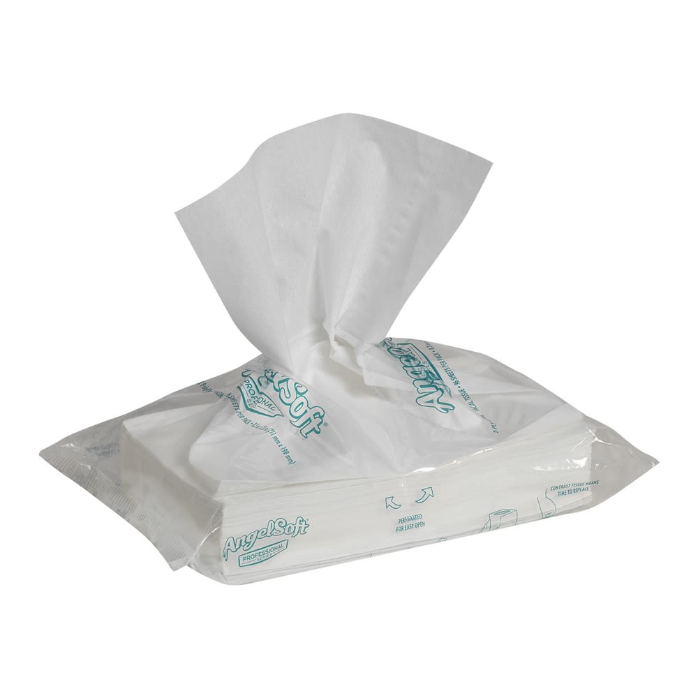 Georgia-Pacific Angel Soft Professional Series®  PolyFlex®, Facial Tissue, 96 Sheets, White
