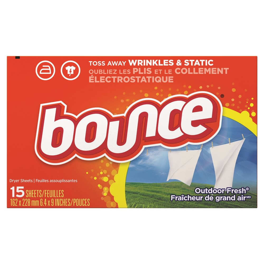 Bounce® Fabric Softener Dryer Sheets, Outdoor Fresh Fragrance