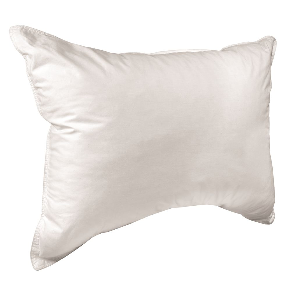 Dream Surrender Firm Pillow, Down Alternative Fiber Fill, T233 Cotton Cover, Queen 20x30, 25oz, Wht