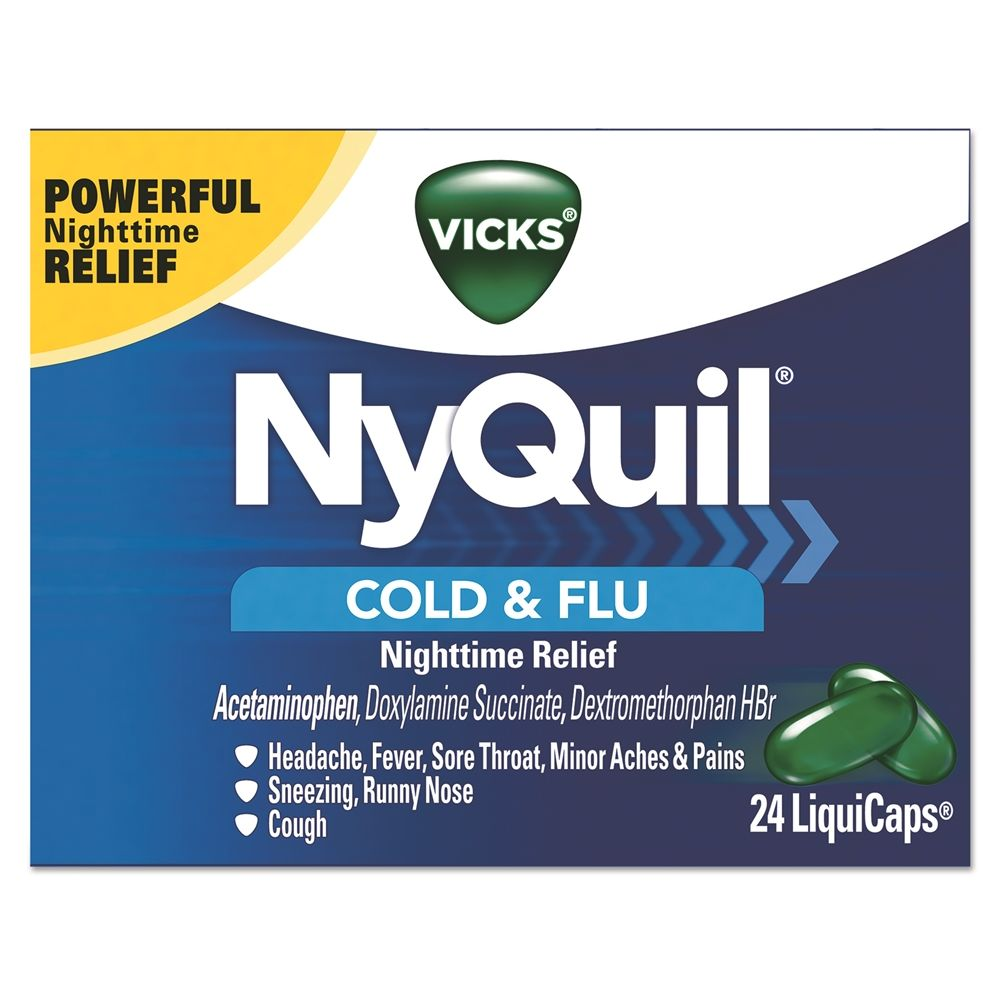 Vicks® NyQuil Cold & Flu Nighttime Relief LiquiCaps 24/Box