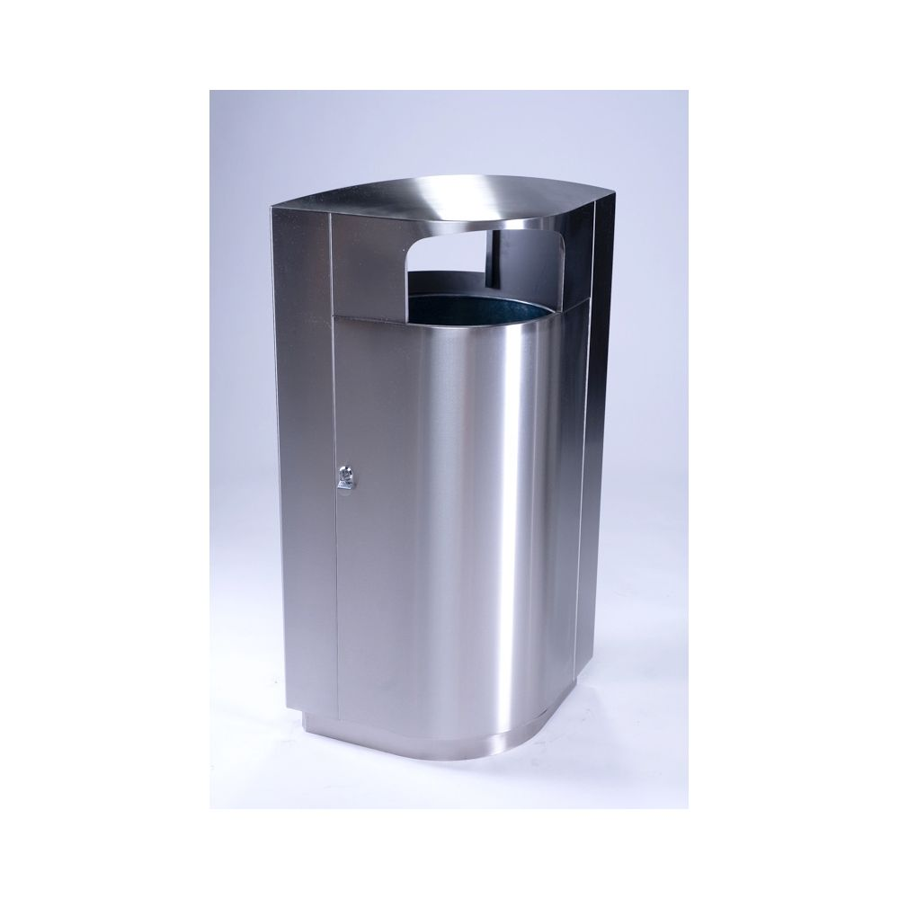 Commercial Zone® Leafview® Series 40 Gallon Waste Receptacle Stainless Steel