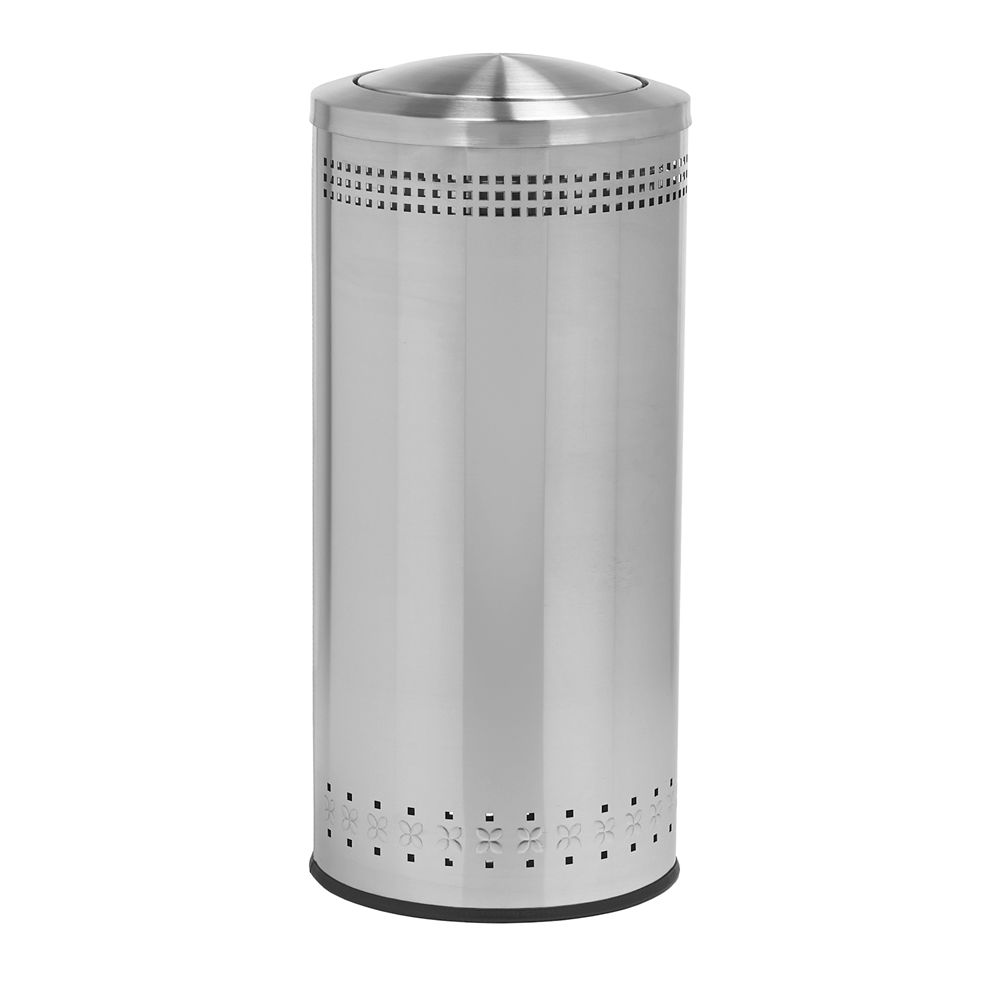 Commercial Zone® Precision Series®  25 Gallon Imprinted 360 Waste Receptacle, Swivel Lid, Steel