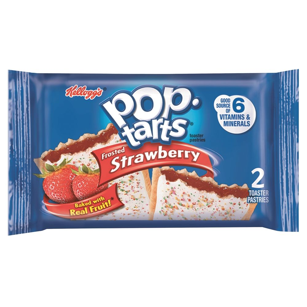 Kellogg's® Pop-Tarts®, Frosted Strawberry, 3.67oz, 2/Pack, 6 Packs/Box