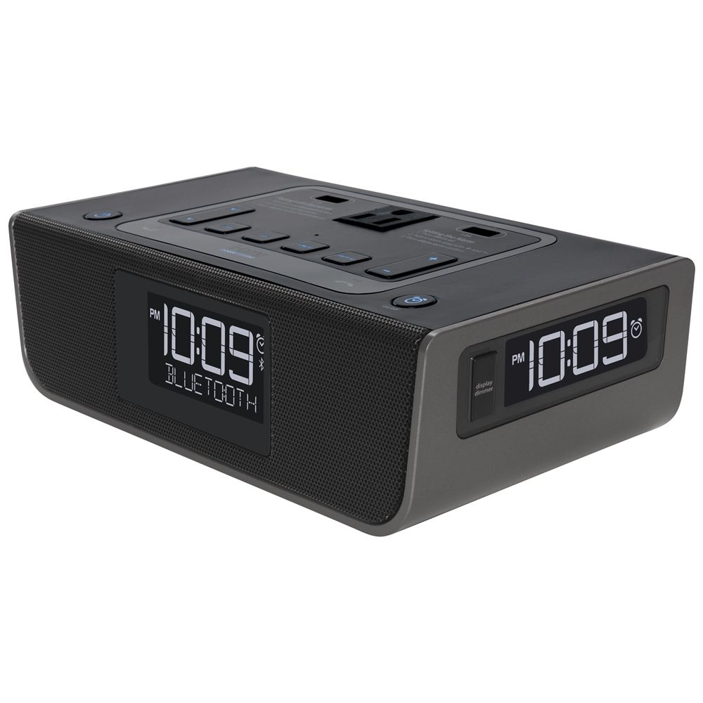 iHome HBH34B Triple Display Alarm Clock