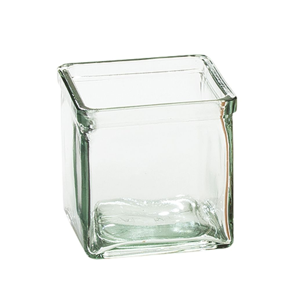 Glass Jar 3-7/8 x 3-7/8, Clear