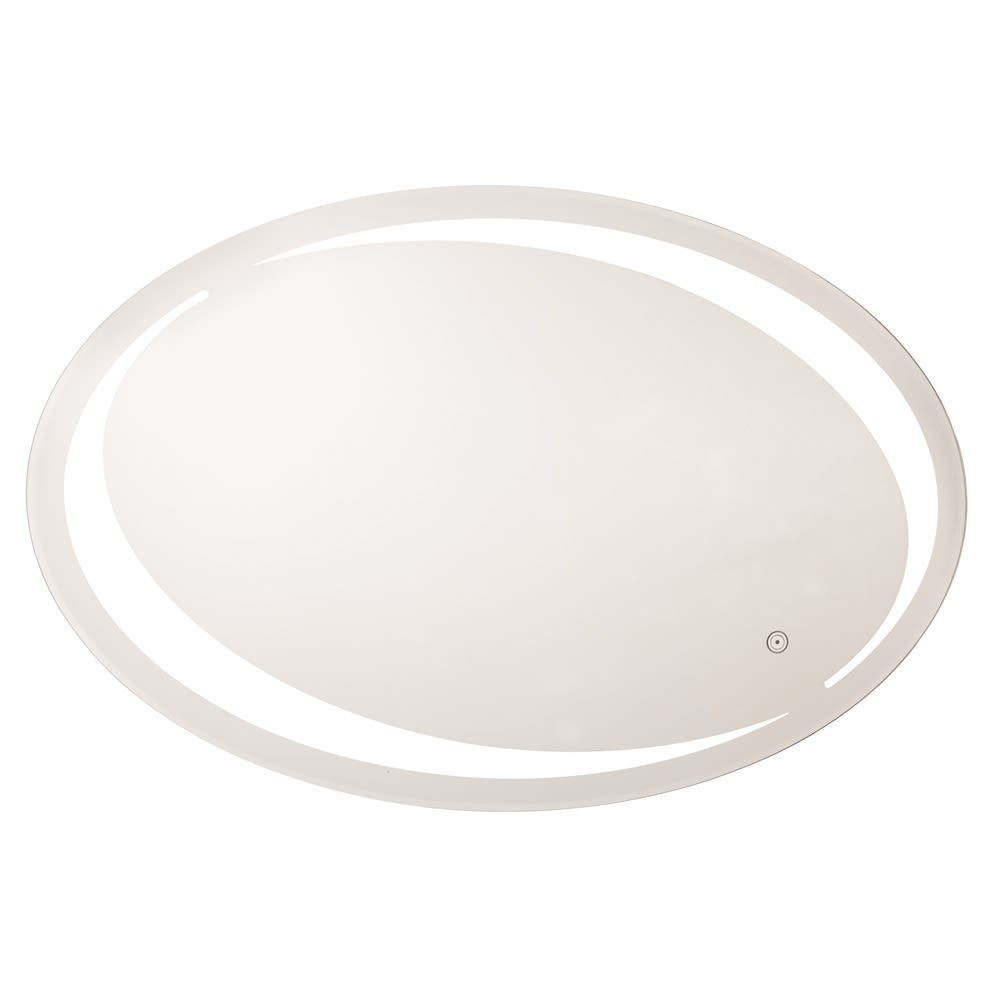 Sol LED Oval Wall Mirror, 5500K, Hardwired, 31.5Hx23.63W