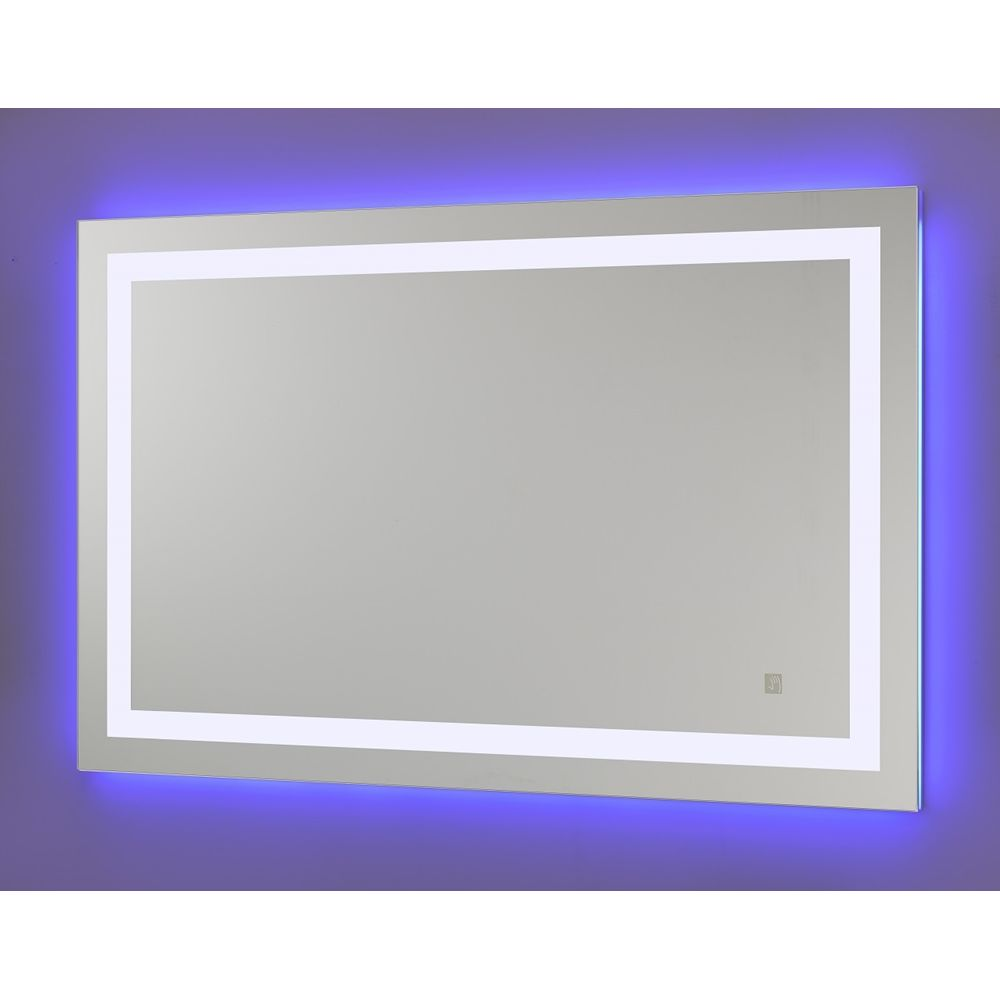 NeoClassic LED Mirror w/Blue Accent Light, Touch Sensor Switch, 3500K, 43.4Hx27.7W