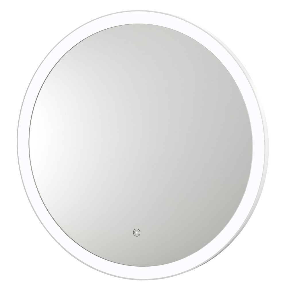 Round 31.5in LED Backlit Mirror, 5500K Cool White