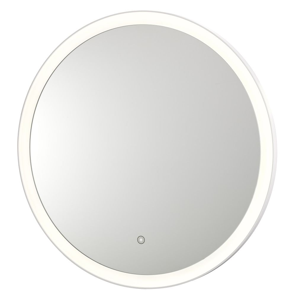Round 31.5in LED Backlit Mirror, 3500K Cool White