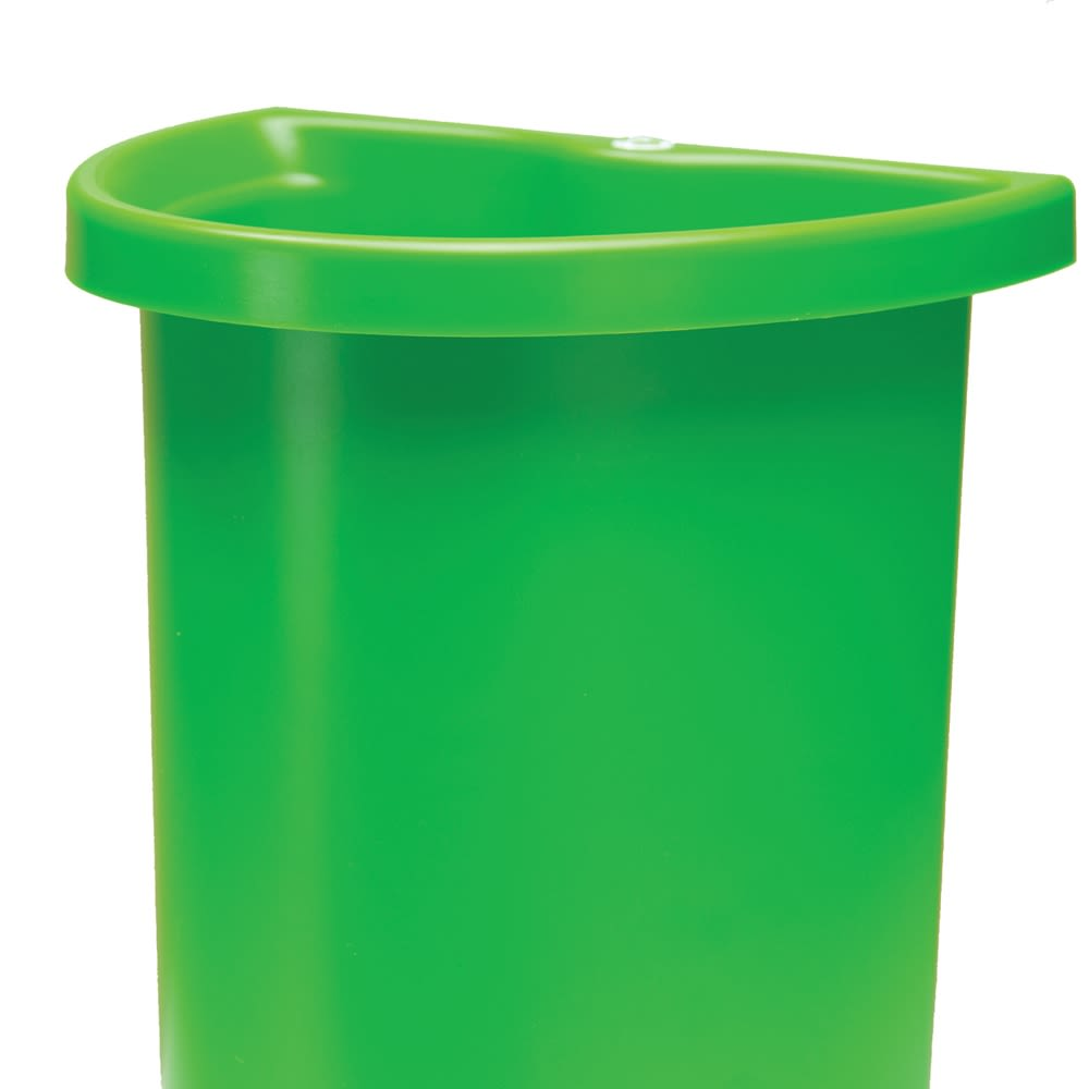 5 Quart Recycle Insert/Vanity Wastebasket, Green with Recycle Decal