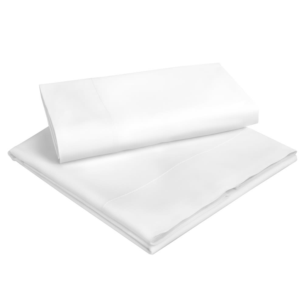 Abbey Collection T300 Cotton Sateen Weave, Queen Pillowcase, 21x36 FS, White