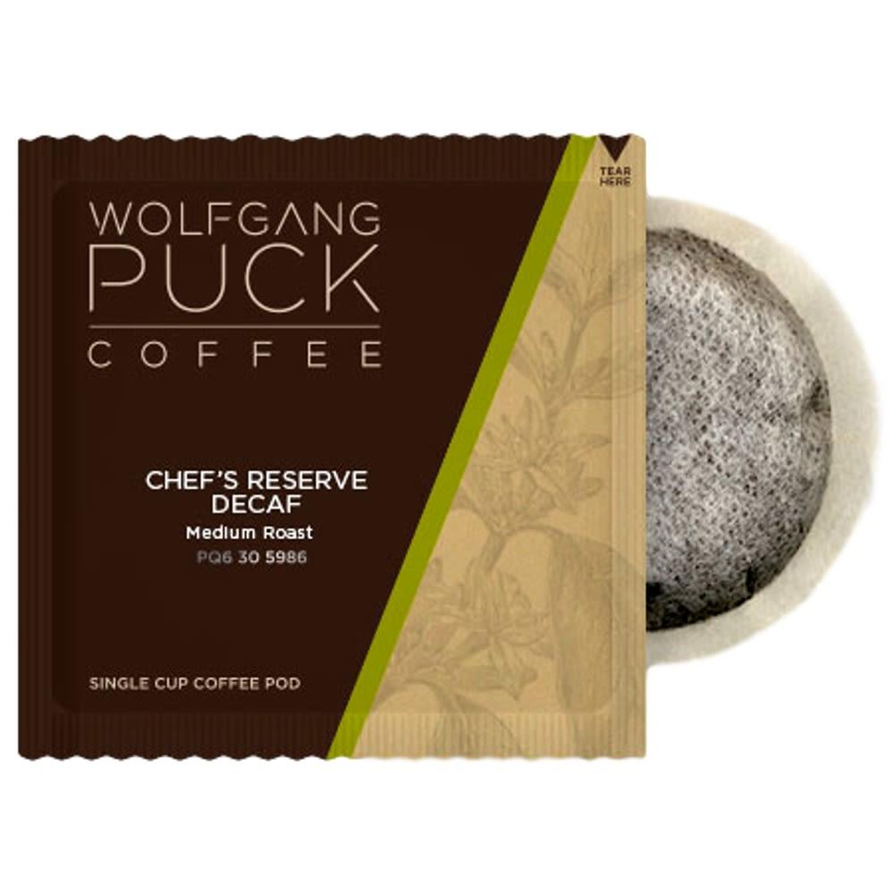 BEVBar Wolfgang Puck Reserve Medium Roast Decaf 1-Cup Coffee Pod