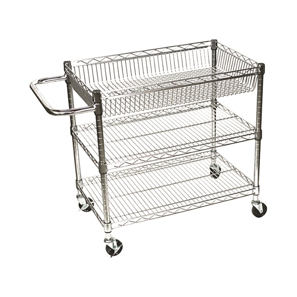 APEX Chrome Utility Cart, 30 x 18 x 30