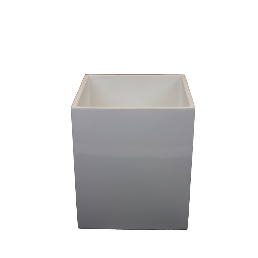12 Quart Pacifica Poly Resin Waste Bin, White