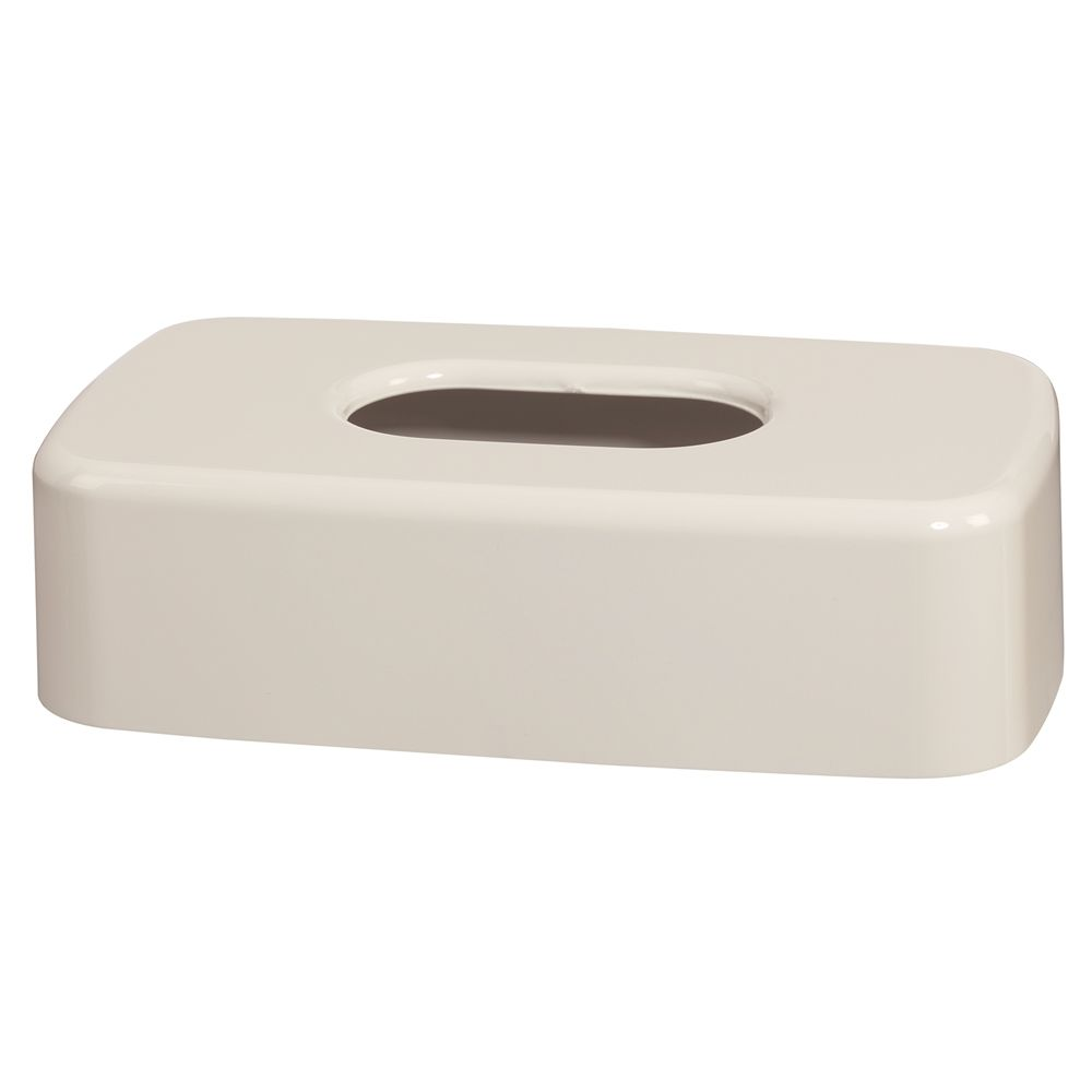 Celebrity Collection Flat Tissue Box Cover, White