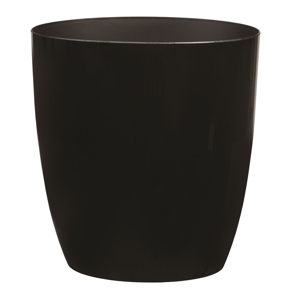 Celebrity Collection 10 Quart Oval Wastebasket, Black