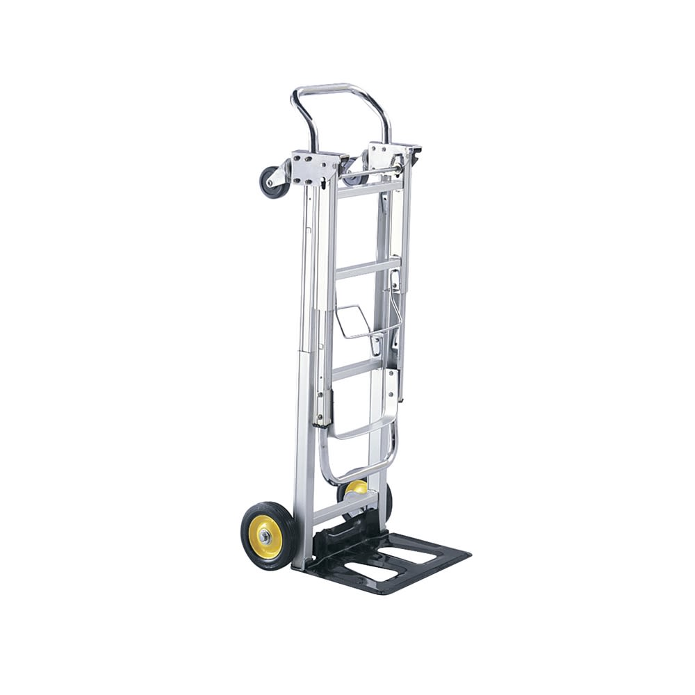 Safco® Hide-Away Convertible Hand Truck 250-400 lb Capacity, Aluminum