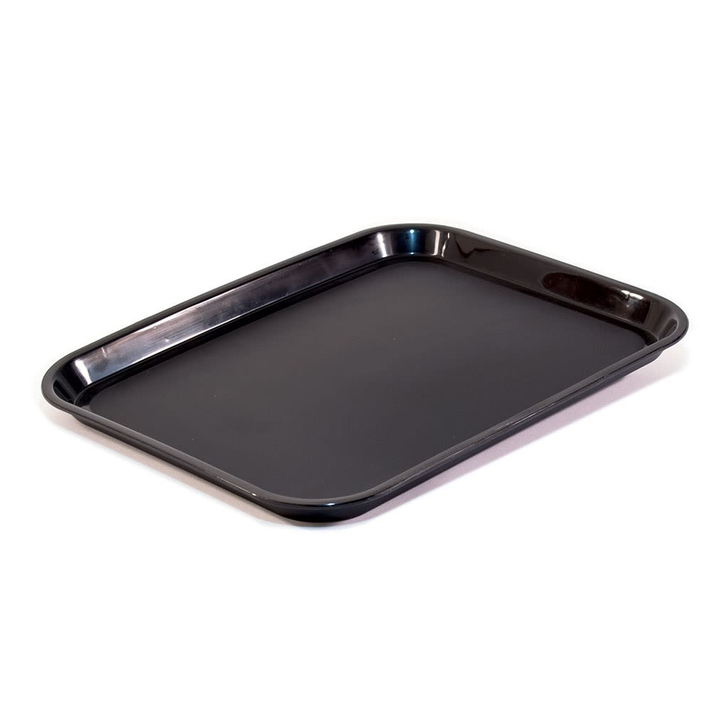 Essential Rectangular Tray with Round Corners, Black