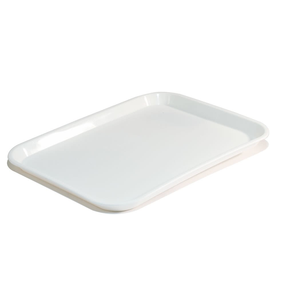 Essential Rectangular Tray with Round Corners, White