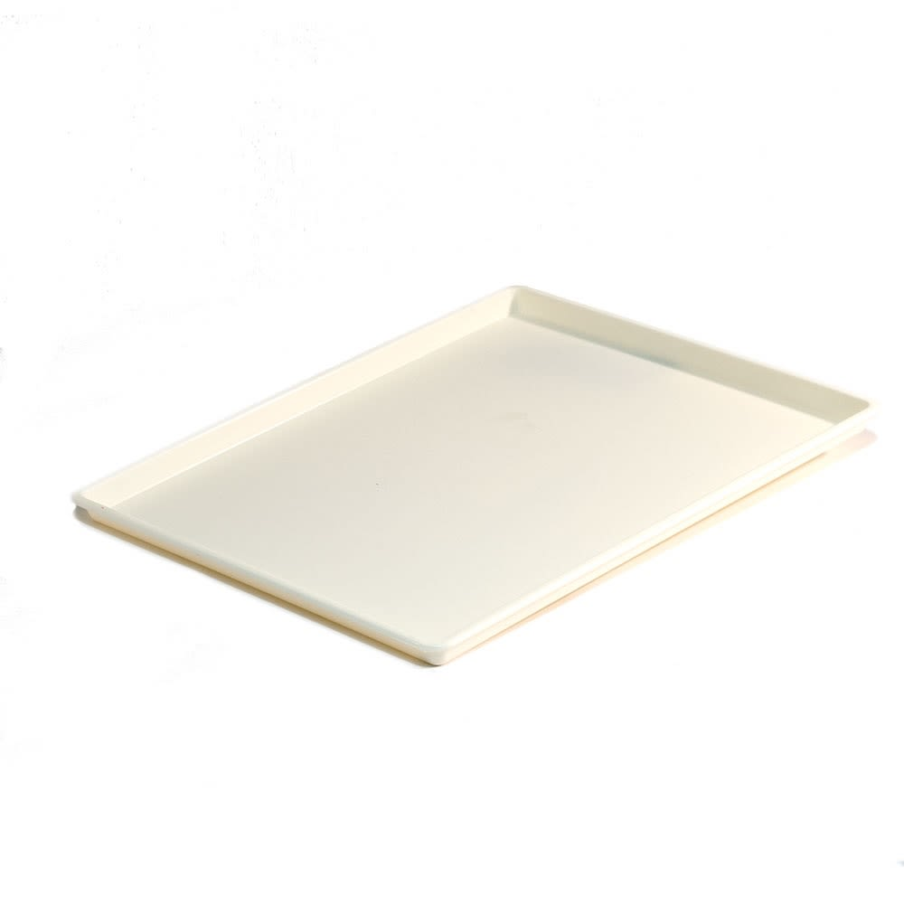 Essential Rectangular Tray with Square Corners, Vanilla