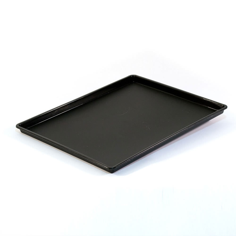 Essential Rectangular Tray with Square Corners, Black