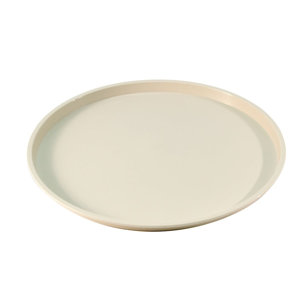 "Essential 12"" Round Tray with Spill Proof Ring, Sand"