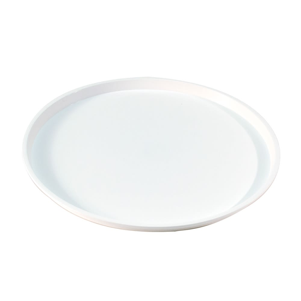 "Essential 12"" Round Tray with Spill Proof Ring, White"