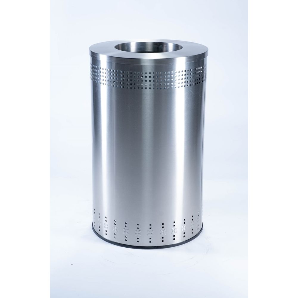 Commercial Zone® Precision Series® 45 Gallon Imprinted Open Top Waste Receptacle Stainless Steel
