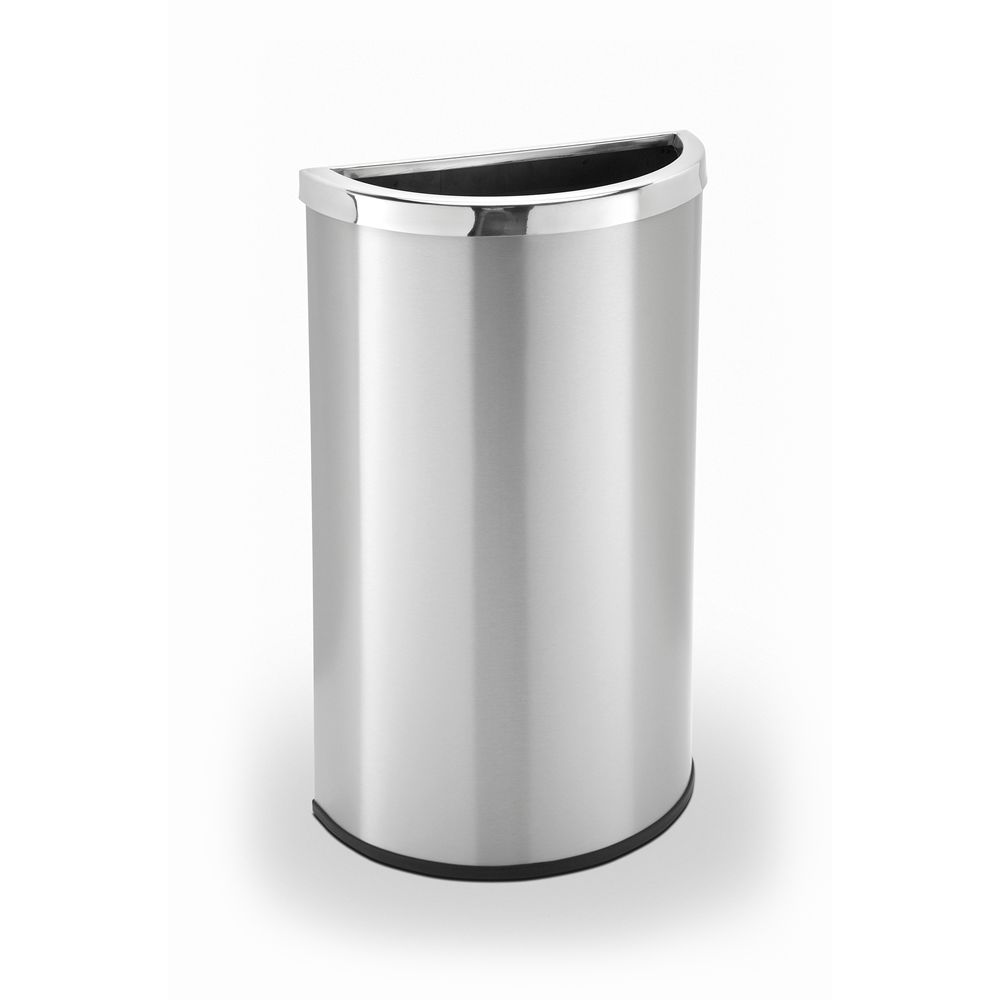 Commercial Zone® Precision Series® 15 Gallon Half Moon Waste Receptacle Stainless Steel