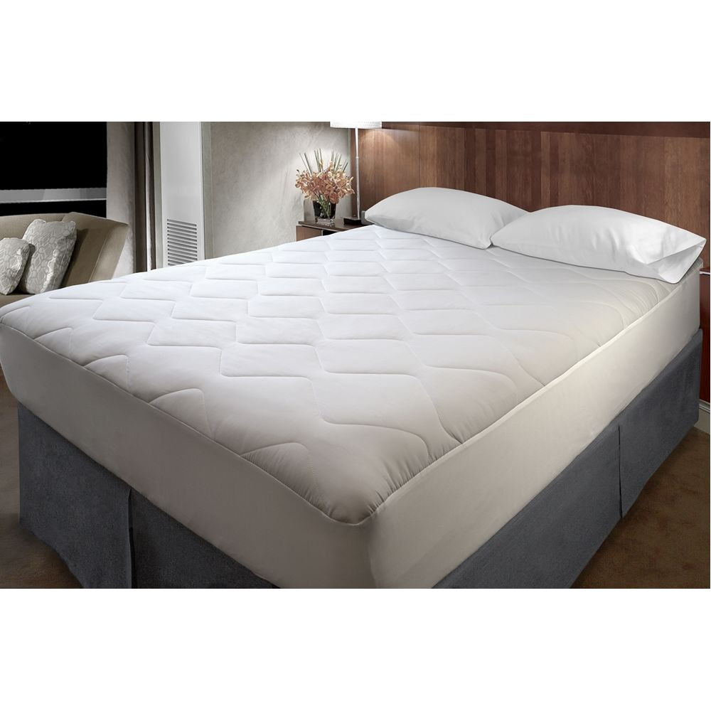 Classic Waterproof Mattress Pad, Poly/Nylon Microfiber Top & Bottom, Qn/Sofa 60x72x5, Ftd Skirt, 40z
