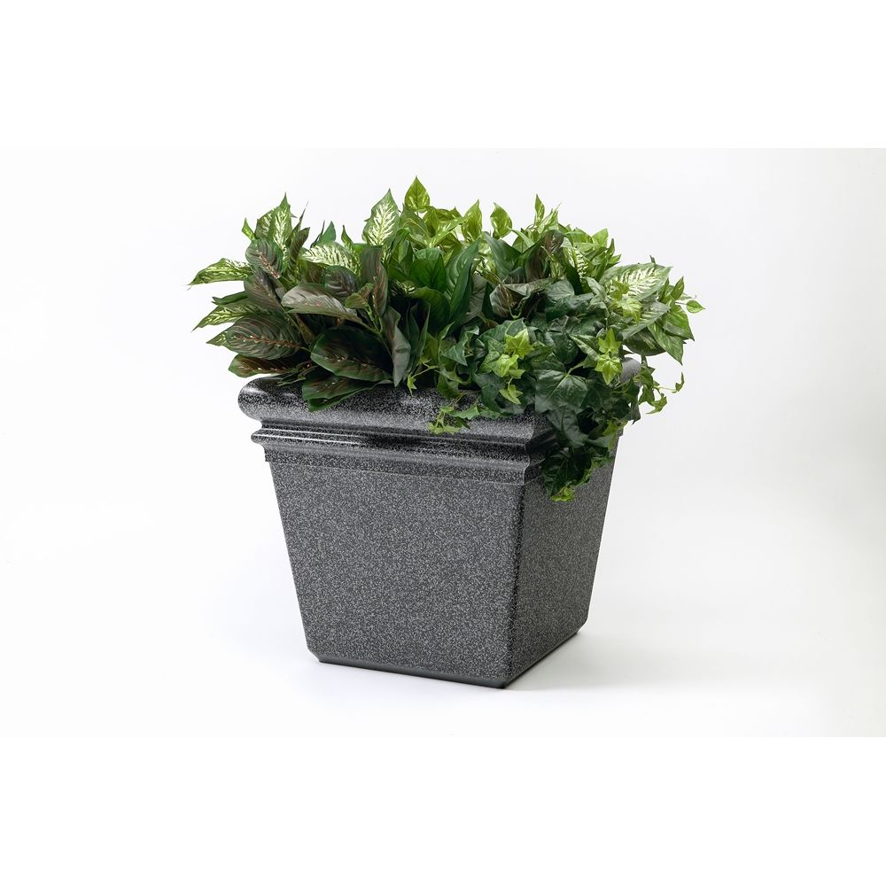 "Commercial Zone® StoneTec® Planter,  18"" x 18"" x 18"", Pepperstone"