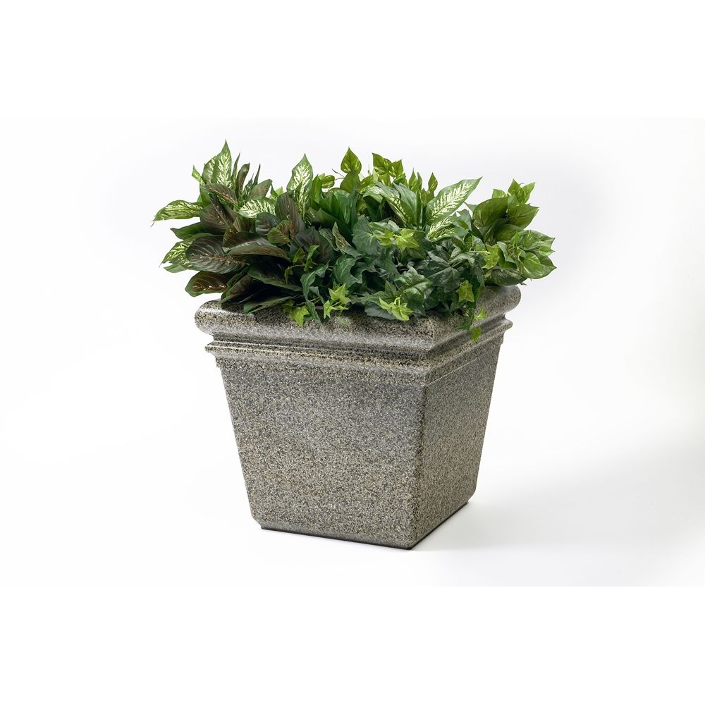 "Commercial Zone® StoneTec® Planter, 18"" x 18"" x 18"" , Riverstone"