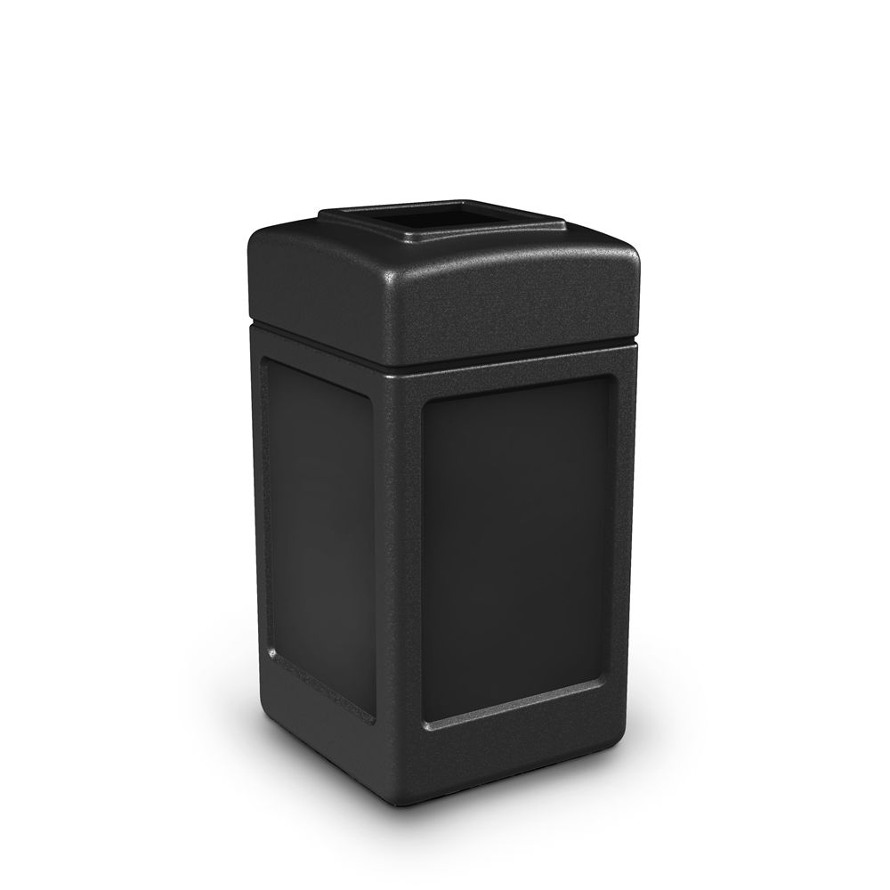 Commercial Zone® PolyTec 42 Gallon Waste Container Open Top, Black