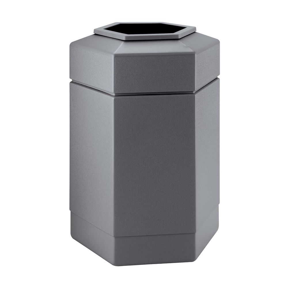 Commercial Zone® 30 Gallon Hexagon Waste Container, Gray