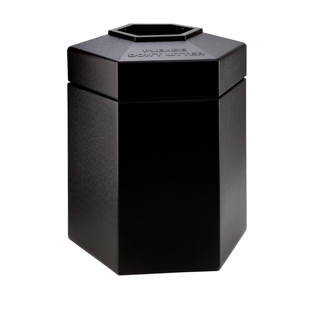 Commercial Zone® 45 Gallon Hexagon Waste Container, Black