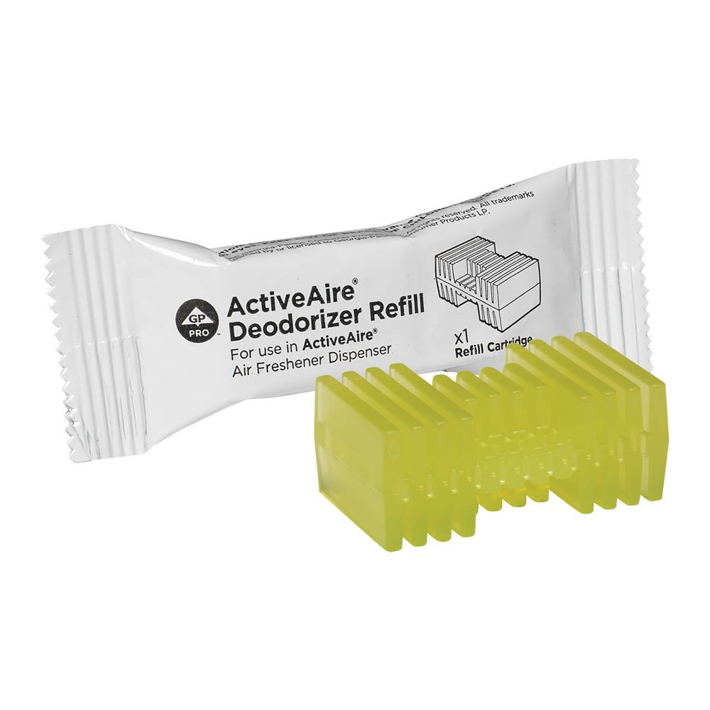 ActiveAire Automated Freshener Dispenser Refill by GP PRO, Citrus, 12 Cartridges Per Case