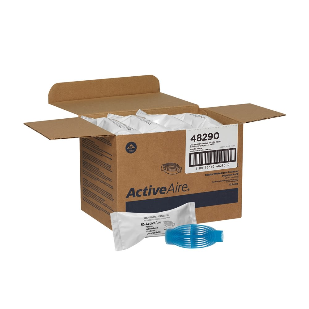 ActiveAire Passive Whole-Room Freshener Dispenser Refill by GP PRO, Coastal Breeze