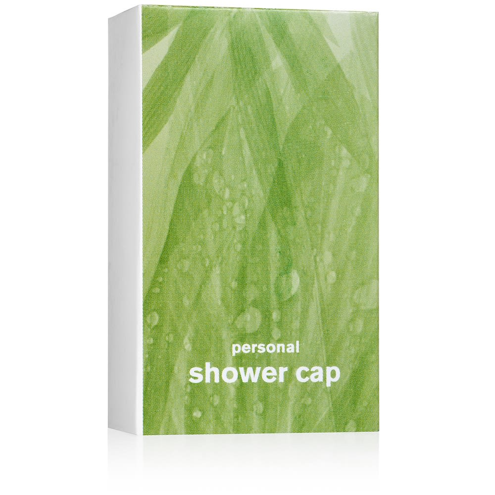 Bath & Body Works® Shower Cap Carton companion to Rainkissed Leaves Collection