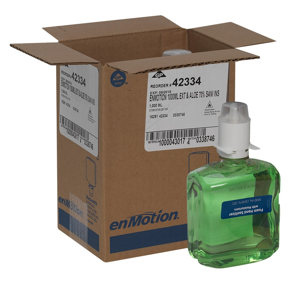 enMotion® Gen2 Green & Fragrance Free Moisturizing E3-Rated Foam Sanitizer Refill, 1200ml