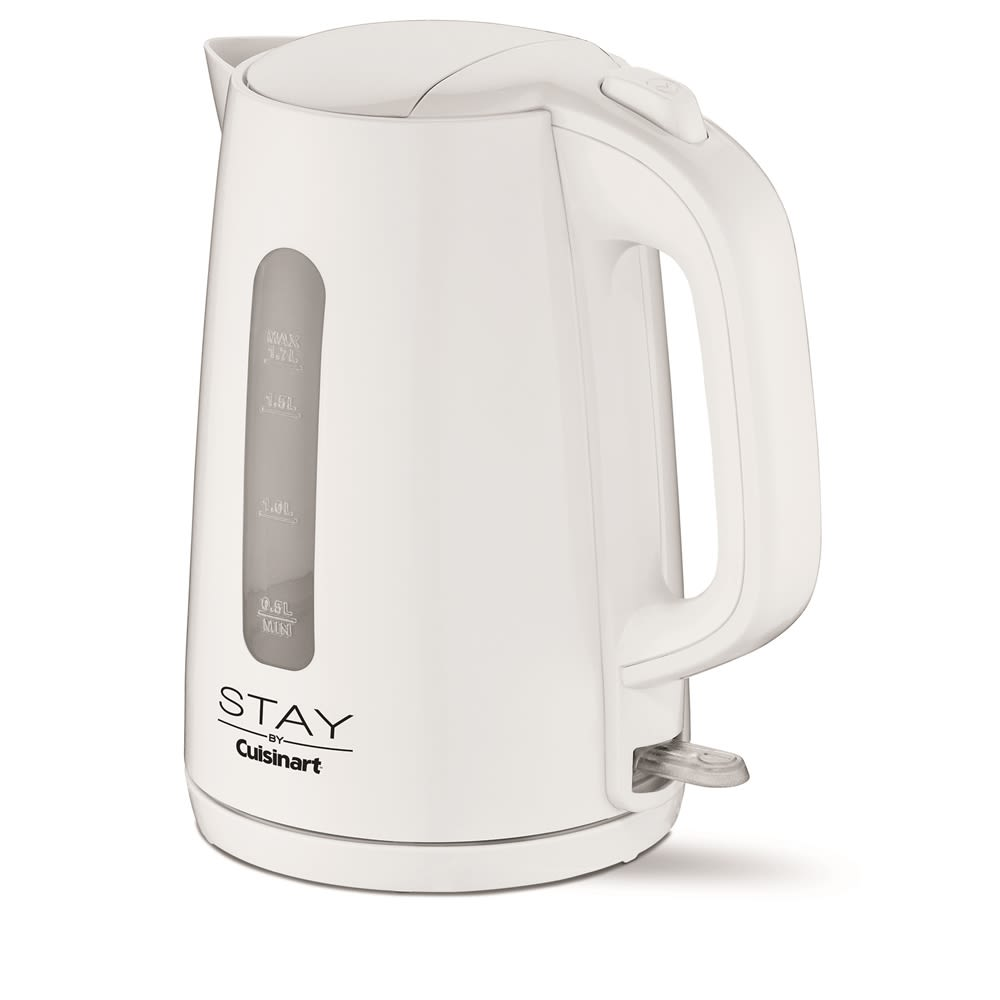 STAY by Cuisinart Electric Cordless Kettle, 1.7 Liters, White