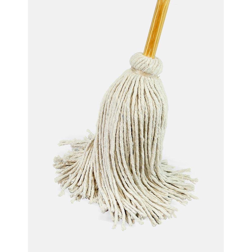 Better Brush® #16 Deck Mop, Cotton, Wire Bound to Wood Handle