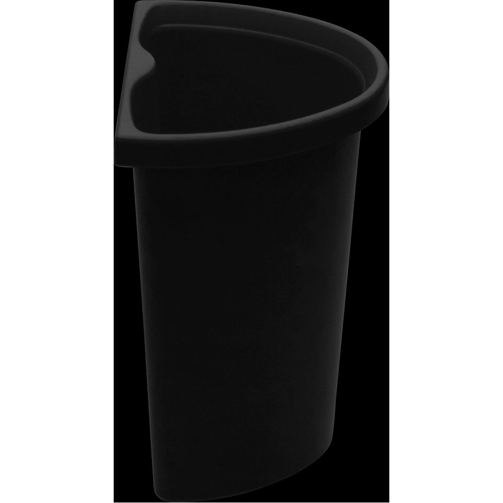5 Quart Recycle Insert/Vanity Wastebasket, Black