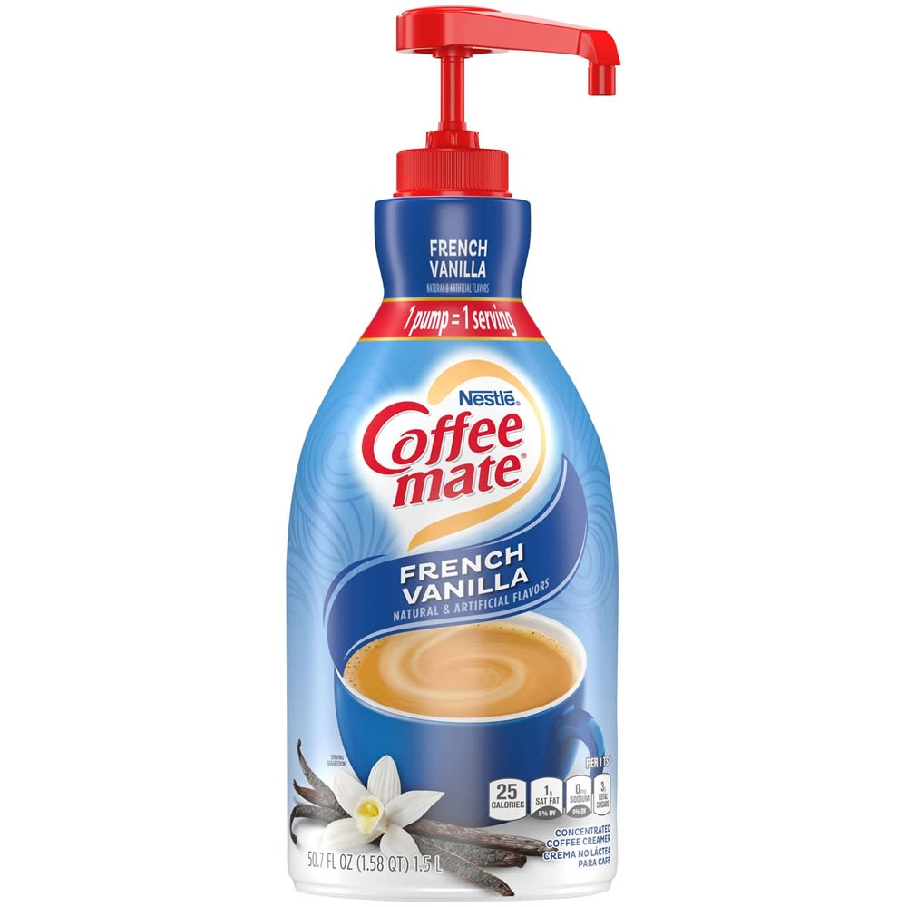 French Vanilla Coffee-mate Creamer, 2 bottles, 1.58 Q each